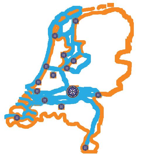 RibEvents vaargebied in Nederland